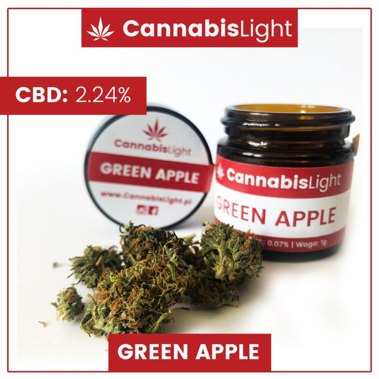 Susz CBD z uprawy indoor - Green Apple od Cannabis Light