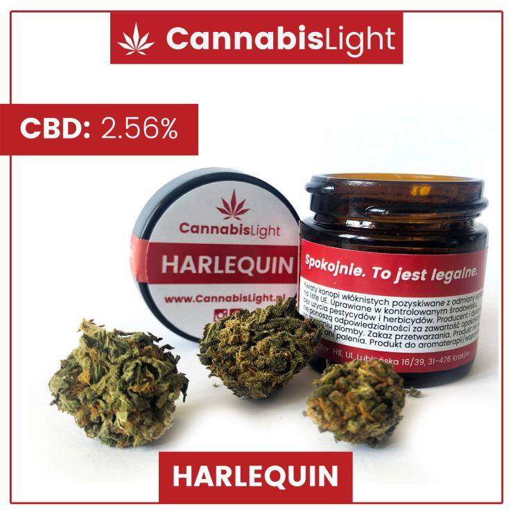 "Susz CBD ""Harlequin"" polskiej marki Cannabis Light"